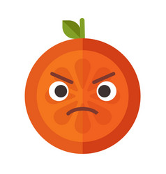 emoji - angry orange isolated vector image vector image