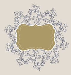 flourish calligraphy vintage frame vector image