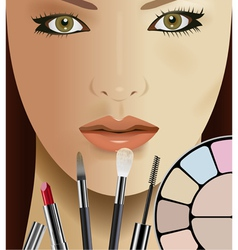 make up vector image vector image