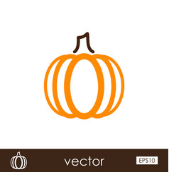 pumpkin outline icon vegetable vector image
