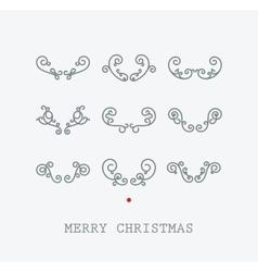 Santas deer horns vector image vector image