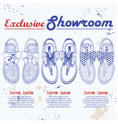 showroom set vector image vector image
