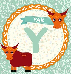 ABC animals Y is yak Childrens english alphabet vector image