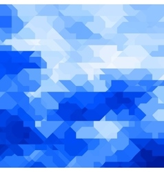 Abstract geometric background with random shapes vector image