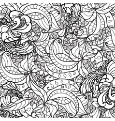 black and white ornamental floral vector image vector image