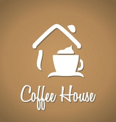 Coffee house icon vector image vector image