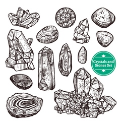 Crystals And Stones Set vector image vector image