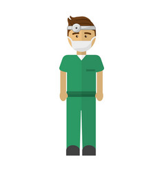 hospital doctor icon image vector image