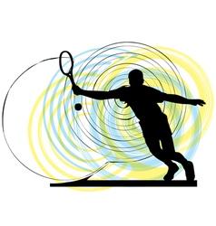 man playing tennis vector image