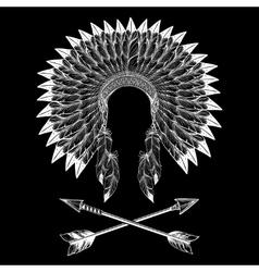 Native american indian war bonnet vector image