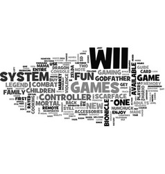 whats up with wii text word cloud concept vector image vector image