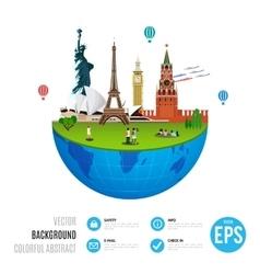 World landmarks concept on white background vector image vector image