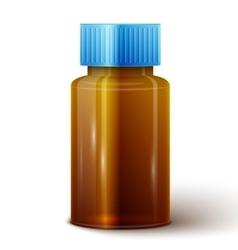 Glass medicine bottle vector image