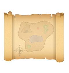 pirate treasure map 01 vector image vector image