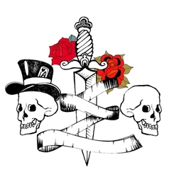 Retro tattoo vector image vector image