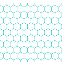 seamless pattern honeycomb hexagon shapes vector image