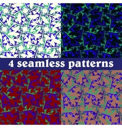 Set of seamless patterns Abstract vector image vector image