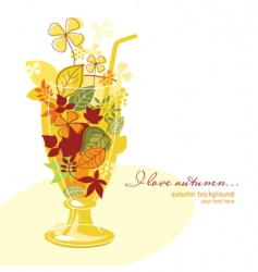 autumn cocktail vector image vector image