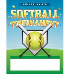 Softball Tournament Flyer vector image vector image