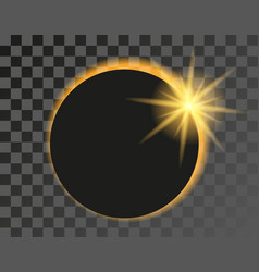 solar eclipse on transparent vector image