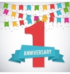 1 Year Celebrating Anniversary graphic vector