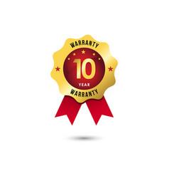 10 year warranty template design vector