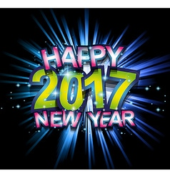 2017 happy new year club party background for your vector