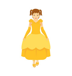 a cute girl are happy because she wearing the vector image