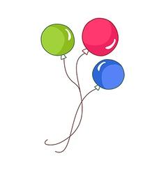 A view of balloons vector
