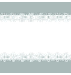 abstract background frame decorated with lace vector image