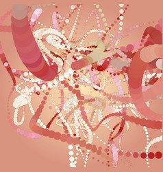 Abstract chains of colorful circles vector