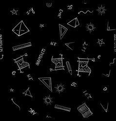 abstract school doodles seamless pattern vector image