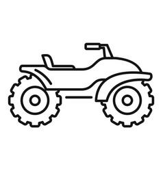 Adventure quad bike icon outline style vector