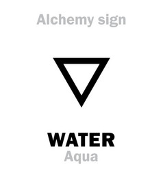 alchemy water aqua vector image