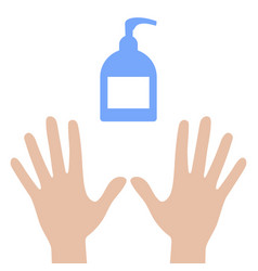 antiseptic soap and clean hands icon isolated on vector image