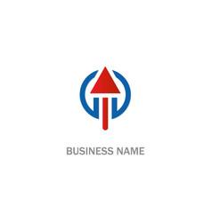 Arrow up sign logo vector