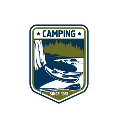 Badge icon for camping sport adventure vector