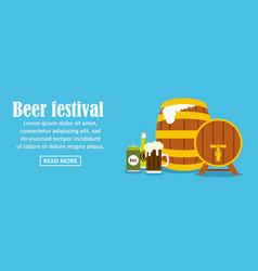 beer festival banner horizontal concept vector image