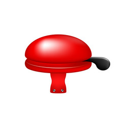 Bicycle bell in red design vector