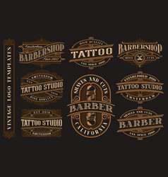 big bundle of vintage logo templates for the vector image