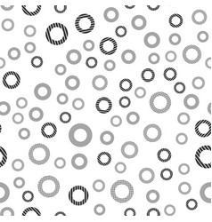 black circles seamless pattern background vector image