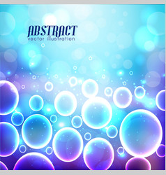 Blue background with bubbles vector