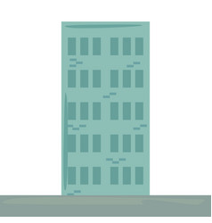 Building structure exterior icon vector