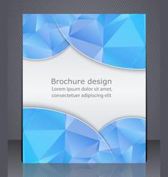 business brochure blue flyer template vector image