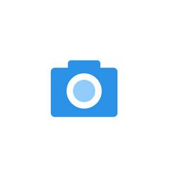 camera icon blue monochrome color vector image