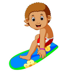 cartoon surfer boy vector image