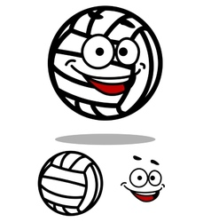 Cartoon white volleyball ball character vector image