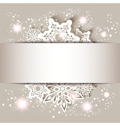 Christmas Star Snowflake Greeting Card vector