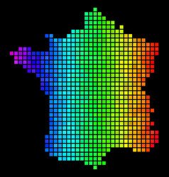 colorful dot france map vector image