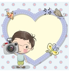 Cute cartoon Boy with a camera vector image